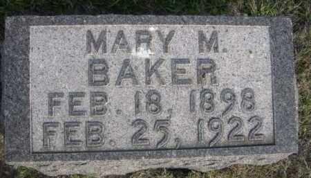 BAKER, MARY M. - Dawes County, Nebraska   MARY M. BAKER - Nebraska Gravestone Photos
