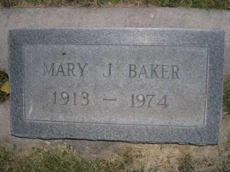 BAKER, MARY J. - Dawes County, Nebraska | MARY J. BAKER - Nebraska Gravestone Photos