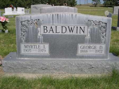 BALDWIN, GEORGE D. - Dawes County, Nebraska | GEORGE D. BALDWIN - Nebraska Gravestone Photos