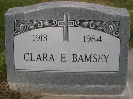 BAMSEY, CLARA E. - Dawes County, Nebraska | CLARA E. BAMSEY - Nebraska Gravestone Photos