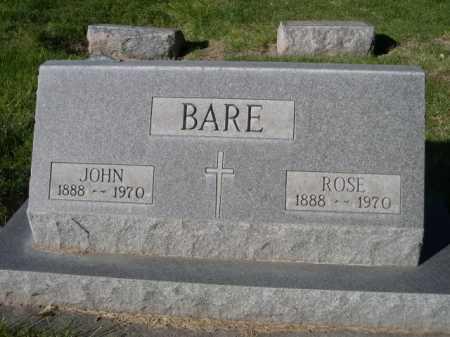 BARE, ROSE - Dawes County, Nebraska | ROSE BARE - Nebraska Gravestone Photos