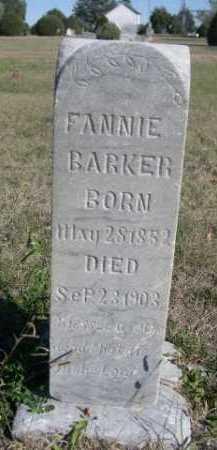 BARKER, FANNIE - Dawes County, Nebraska   FANNIE BARKER - Nebraska Gravestone Photos