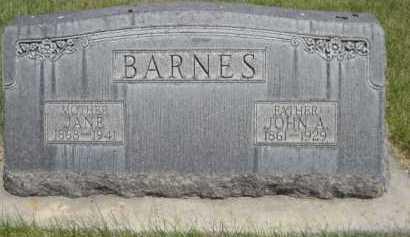 BARNES, JANE - Dawes County, Nebraska | JANE BARNES - Nebraska Gravestone Photos