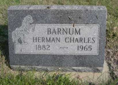 BARNUM, HERMAN CHARLES - Dawes County, Nebraska | HERMAN CHARLES BARNUM - Nebraska Gravestone Photos