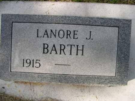 BARTH, LANORE J. - Dawes County, Nebraska   LANORE J. BARTH - Nebraska Gravestone Photos
