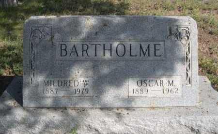 BARTHOLME, OSCAR M. - Dawes County, Nebraska | OSCAR M. BARTHOLME - Nebraska Gravestone Photos