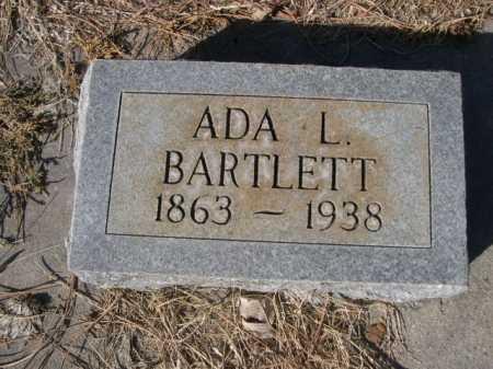 BARTLETT, ADA L. - Dawes County, Nebraska   ADA L. BARTLETT - Nebraska Gravestone Photos