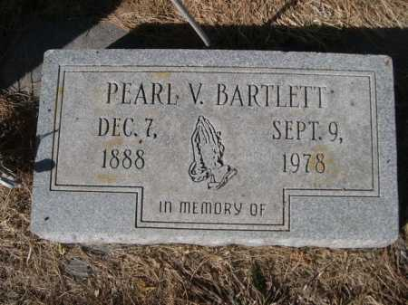 BARTLETT, PEARL V. - Dawes County, Nebraska | PEARL V. BARTLETT - Nebraska Gravestone Photos