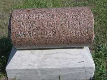 BASSE, REINHARD - Dawes County, Nebraska | REINHARD BASSE - Nebraska Gravestone Photos