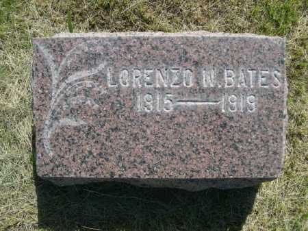 BATES, LORENZO W. - Dawes County, Nebraska | LORENZO W. BATES - Nebraska Gravestone Photos