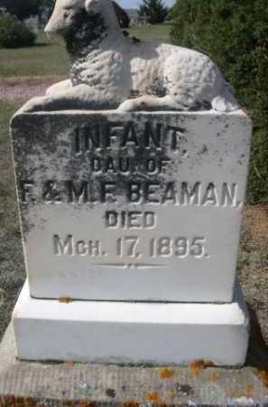 BEAMAN, INFANT DAU. OF F. & M.F. - Dawes County, Nebraska | INFANT DAU. OF F. & M.F. BEAMAN - Nebraska Gravestone Photos