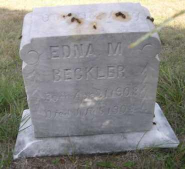 BECKLER, EDNA M. - Dawes County, Nebraska | EDNA M. BECKLER - Nebraska Gravestone Photos