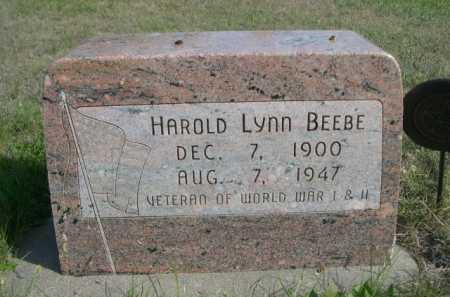 BEEBE, HAROLD LYNN - Dawes County, Nebraska | HAROLD LYNN BEEBE - Nebraska Gravestone Photos