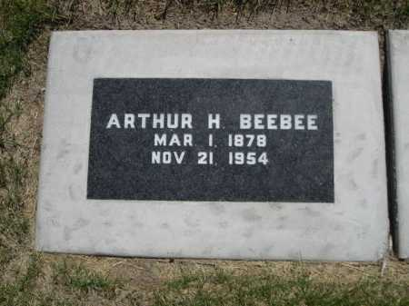 BEEBEE, ARTHUR H. - Dawes County, Nebraska | ARTHUR H. BEEBEE - Nebraska Gravestone Photos