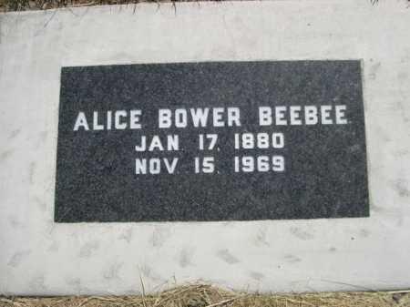 BEEBEE, ALICE - Dawes County, Nebraska | ALICE BEEBEE - Nebraska Gravestone Photos