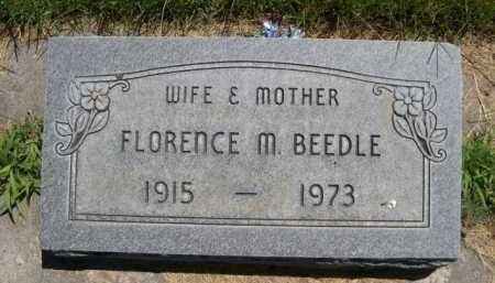 BEEDLE, FLORENCE M. - Dawes County, Nebraska   FLORENCE M. BEEDLE - Nebraska Gravestone Photos
