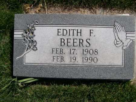 BEERS, EDITH F. - Dawes County, Nebraska   EDITH F. BEERS - Nebraska Gravestone Photos
