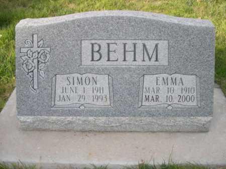 BEHM, EMMA - Dawes County, Nebraska   EMMA BEHM - Nebraska Gravestone Photos
