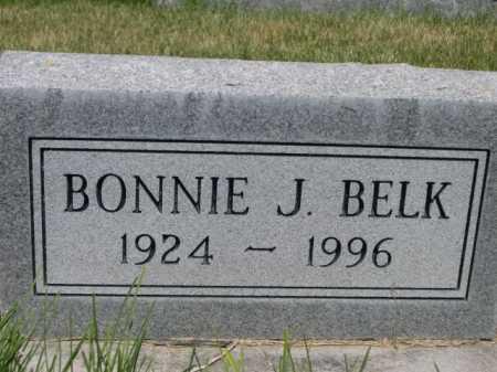 BELK, BONNIE J. - Dawes County, Nebraska | BONNIE J. BELK - Nebraska Gravestone Photos
