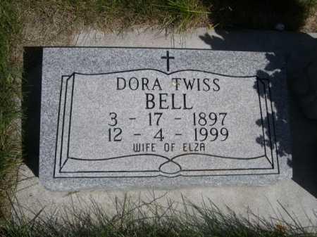 BELL, DORA TWISS - Dawes County, Nebraska | DORA TWISS BELL - Nebraska Gravestone Photos