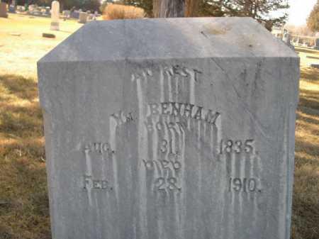 BENHAM, WM. - Dawes County, Nebraska | WM. BENHAM - Nebraska Gravestone Photos