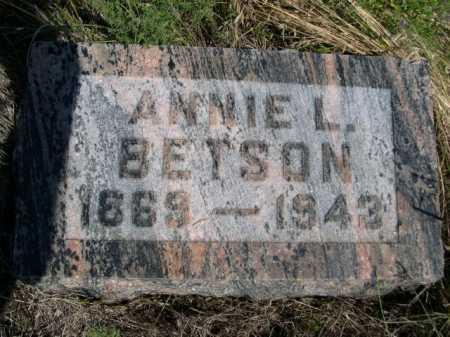 BETSON, ANNIE L. - Dawes County, Nebraska | ANNIE L. BETSON - Nebraska Gravestone Photos