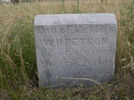 BETSON, DAU OF MR & MRS W.H. - Dawes County, Nebraska | DAU OF MR & MRS W.H. BETSON - Nebraska Gravestone Photos