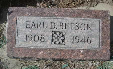BETSON, EARL D. - Dawes County, Nebraska | EARL D. BETSON - Nebraska Gravestone Photos
