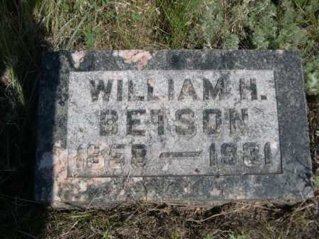 BETSON, WILLIAM H. - Dawes County, Nebraska | WILLIAM H. BETSON - Nebraska Gravestone Photos