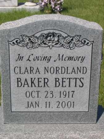 BETTS, CLARA NORDLAND - Dawes County, Nebraska | CLARA NORDLAND BETTS - Nebraska Gravestone Photos