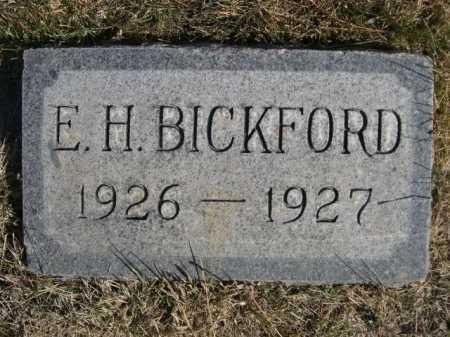 BICKFORD, E. H. - Dawes County, Nebraska | E. H. BICKFORD - Nebraska Gravestone Photos