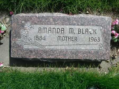 BLACK, AMANDA M. - Dawes County, Nebraska   AMANDA M. BLACK - Nebraska Gravestone Photos