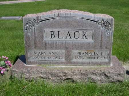 BLACK, MARY ANN - Dawes County, Nebraska | MARY ANN BLACK - Nebraska Gravestone Photos
