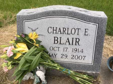 BLAIR, CHARLOT E - Dawes County, Nebraska   CHARLOT E BLAIR - Nebraska Gravestone Photos