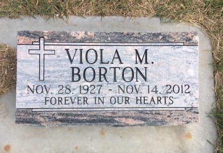 BORTON, VIOLA M - Dawes County, Nebraska   VIOLA M BORTON - Nebraska Gravestone Photos