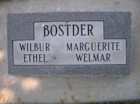 BOSTDER, MARGUERITE - Dawes County, Nebraska | MARGUERITE BOSTDER - Nebraska Gravestone Photos