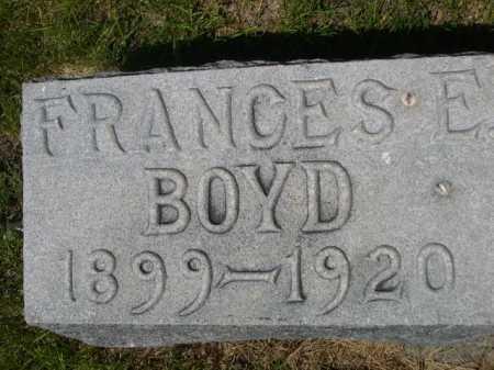 BOYD, FRANCES E. - Dawes County, Nebraska | FRANCES E. BOYD - Nebraska Gravestone Photos