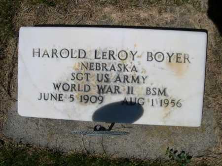 BOYER, HAROLD LEROY - Dawes County, Nebraska | HAROLD LEROY BOYER - Nebraska Gravestone Photos