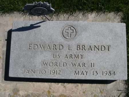 BRANDT, EDWARD L. - Dawes County, Nebraska | EDWARD L. BRANDT - Nebraska Gravestone Photos
