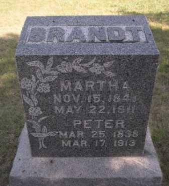 BRANDT, MARTHA A. - Dawes County, Nebraska | MARTHA A. BRANDT - Nebraska Gravestone Photos