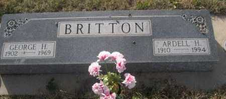 BRITTON, GEORGE H. - Dawes County, Nebraska | GEORGE H. BRITTON - Nebraska Gravestone Photos