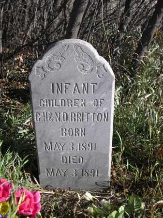 BRITTON, INFANT CHILDREN OF C.H & N. B. - Dawes County, Nebraska | INFANT CHILDREN OF C.H & N. B. BRITTON - Nebraska Gravestone Photos
