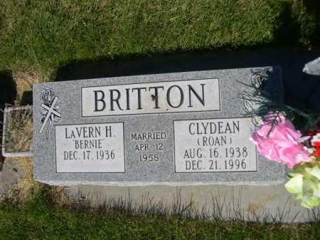 BRITTON, CLYDEAN - Dawes County, Nebraska | CLYDEAN BRITTON - Nebraska Gravestone Photos