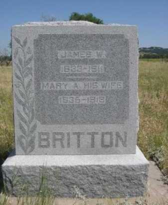 BRITTON, JAMES W. - Dawes County, Nebraska | JAMES W. BRITTON - Nebraska Gravestone Photos