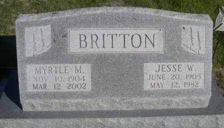 BRITTON, JESSE W. - Dawes County, Nebraska   JESSE W. BRITTON - Nebraska Gravestone Photos