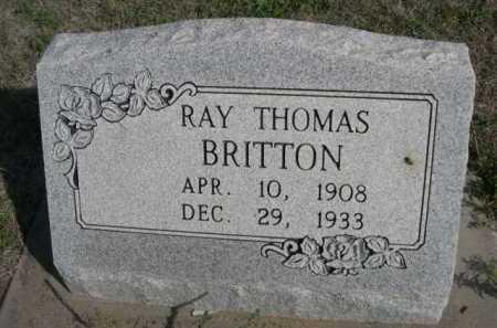 BRITTON, RAY THOMAS - Dawes County, Nebraska | RAY THOMAS BRITTON - Nebraska Gravestone Photos