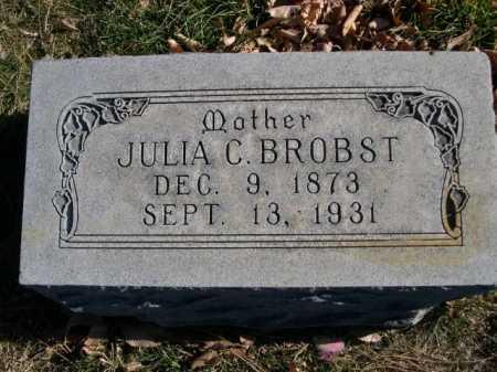 BROBST, JULIA C. - Dawes County, Nebraska | JULIA C. BROBST - Nebraska Gravestone Photos