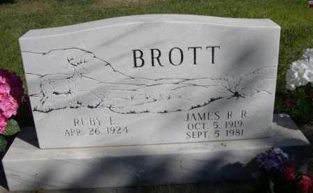 BROTT, RUBY L. - Dawes County, Nebraska | RUBY L. BROTT - Nebraska Gravestone Photos