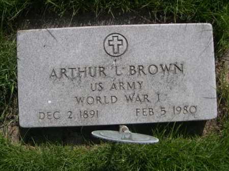 BROWN, ARTHUR L. - Dawes County, Nebraska | ARTHUR L. BROWN - Nebraska Gravestone Photos