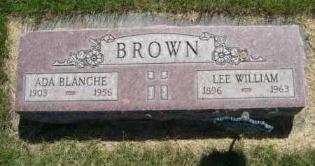 BROWN, ADA BLANCHE - Dawes County, Nebraska   ADA BLANCHE BROWN - Nebraska Gravestone Photos
